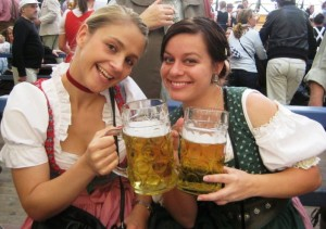 enjoying a German Bier at the Munchen Oktoberfest